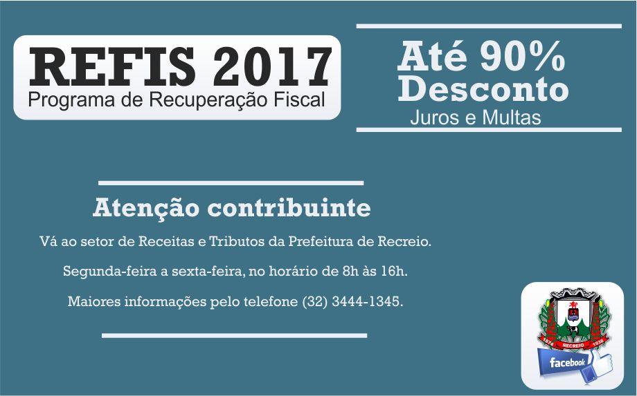 REFIS 2017 com até 90% de desconto